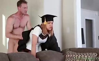 A kinky step daddy is fuckin' his kinky step daughter-in-law in her furry cooter from behind