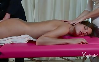 Voluptuous massage on webcam